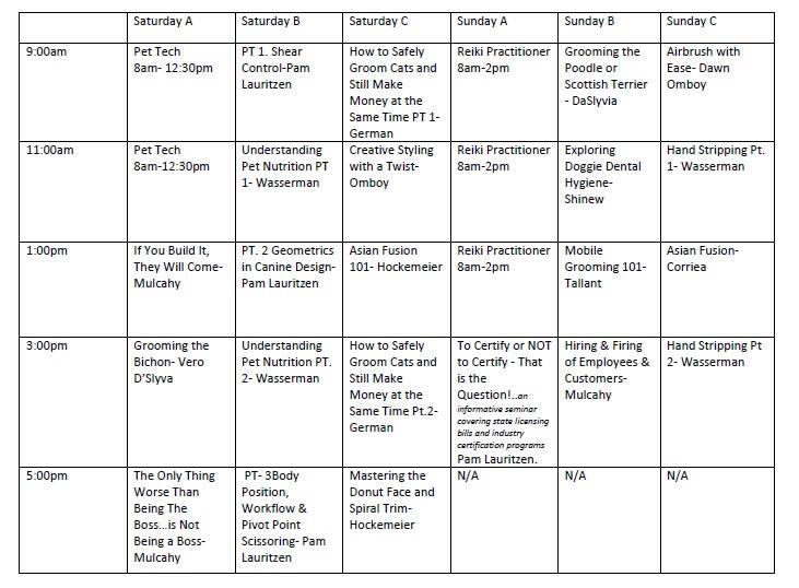 seminar schedule 2015
